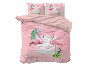 POŚCIEL PURE COTTON  - Flamingo Love 200x220