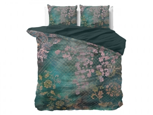POŚCIEL PURE COTTON  - Tiran Flower Green 200x220