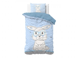 POŚCIEL KIDS LINE - Rabbit Blue 140x200
