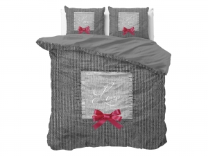 POŚCIEL PURE COTTON  - Strictly in Love Anthracite 200x220