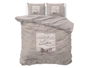 POŚCIEL PURE COTTON - Linen Love Taupe 200x200