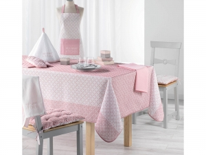 OBRUS PLAMOODPORNY - Atmosphere Poudre Pink 150x200