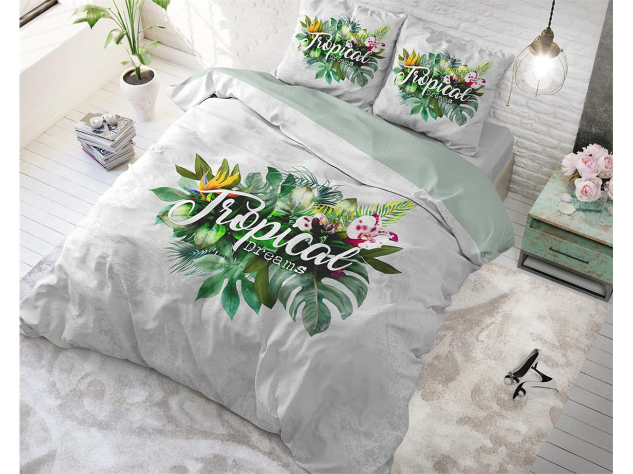 POŚCIEL PURE COTTON  - Tropical Dreams Green 200x220