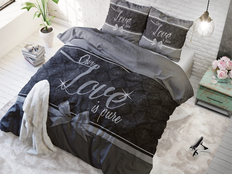 POŚCIEL PURE COTTON - Our Love Grey 200x200