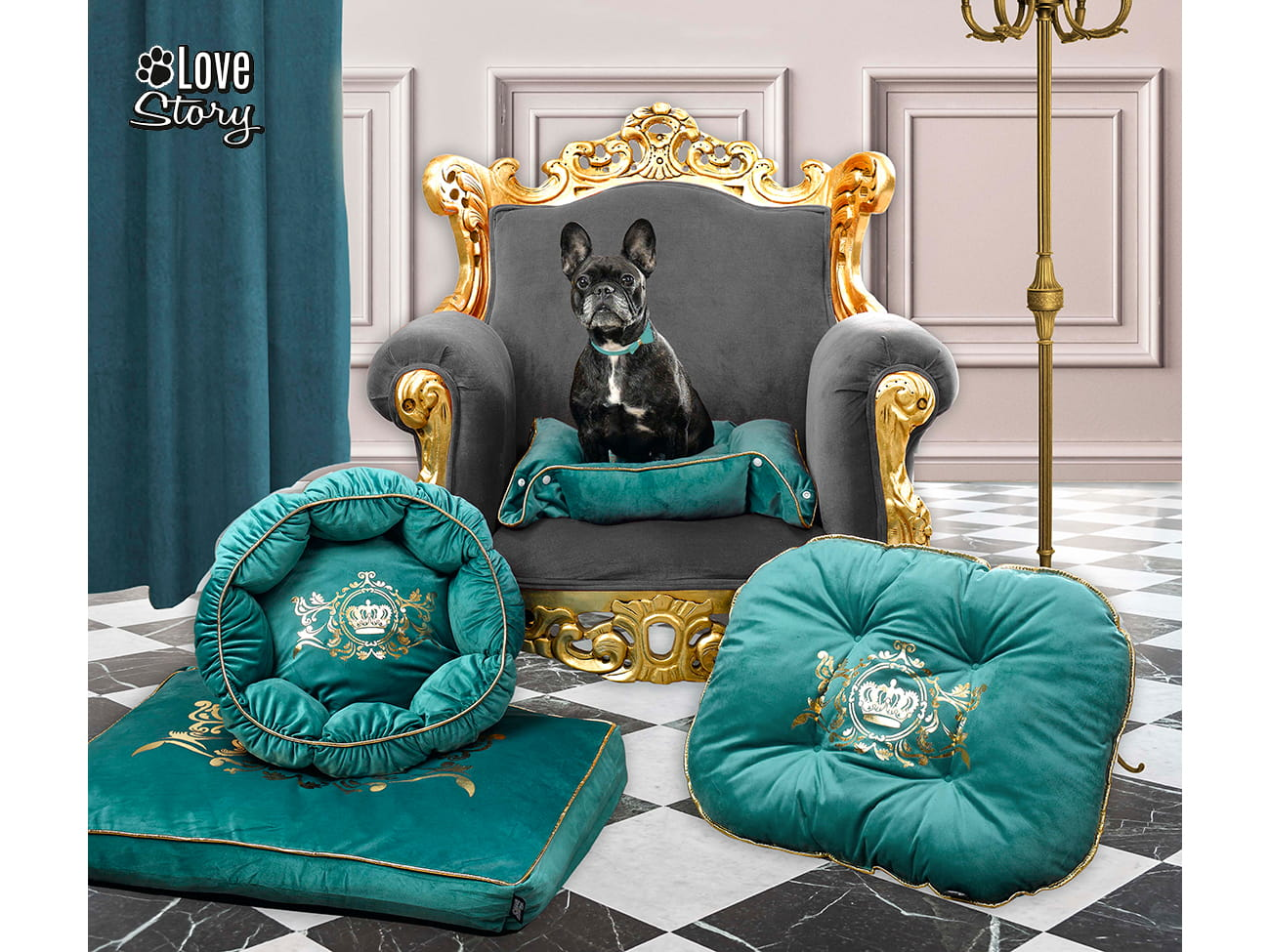 LEGOWISKO LOVE STORY - Luxurious 60x45 Emerald Green